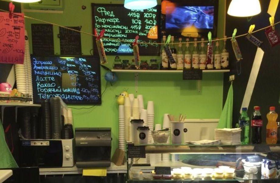 Кофейня в проходном месте (отсутствие конкуренции)
