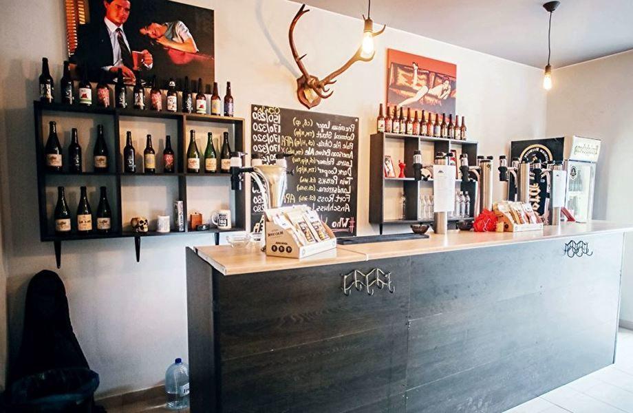 Магазин-бар крафтового пива в пяти минутах от метро