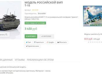 Уникальный интернет-магазин моделей военной техники