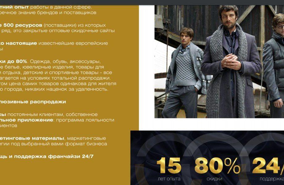 Франшиза популярного европейского бренда одежды