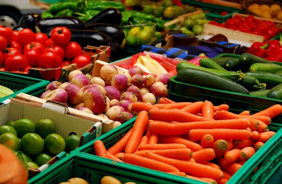 Отдел Фрукты - Овощи в магазине продуктов