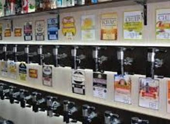 Магазин элитного пива в крупном супермаркете