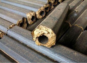 Работающее производство топливных брикетов