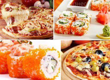 Служба доставки суши и пиццы