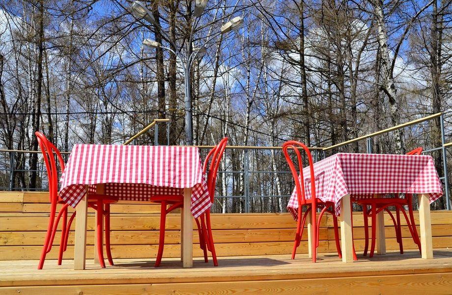 Кафе в парковой зоне на берегу водоема (11 лет работы)
