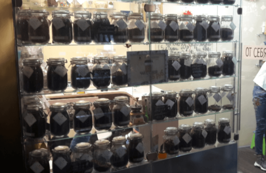 Магазин чая и кофе с удачным расположением