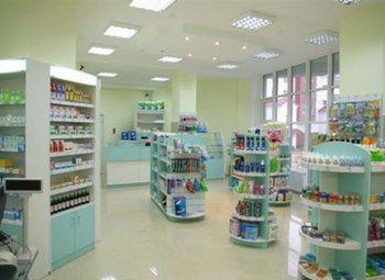 Аптека в густонаселенном спальном районе