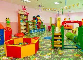 Детский сад в густонаселенном спальном районе