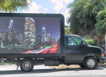 Передвижной рекламный бизнес на автомобиле