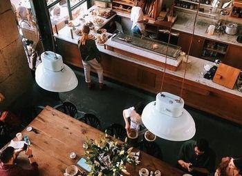 Атмосферная кофейня в центре города.
