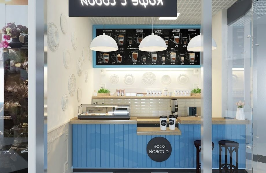 Кофейня в ТЦ рядом с метро