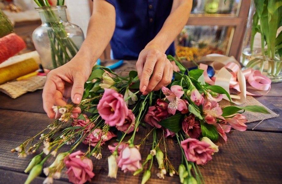 Цветочный магазин около метро