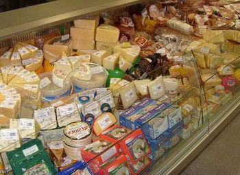 Молочный отдел в магазине и ППА