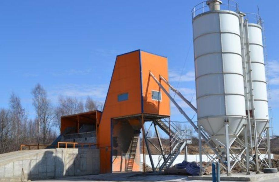 Мобильный бетонный завод со всем оборудованием