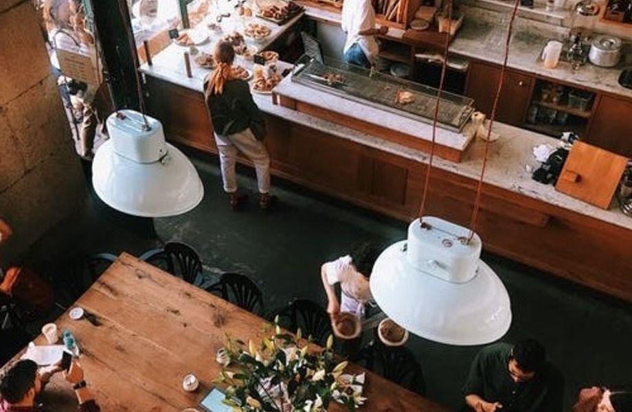 Кофейня для вегетарианцев в центре города