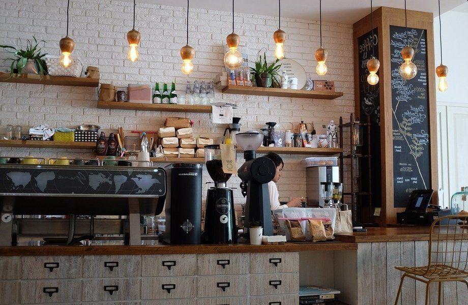 Кафе в центре города.