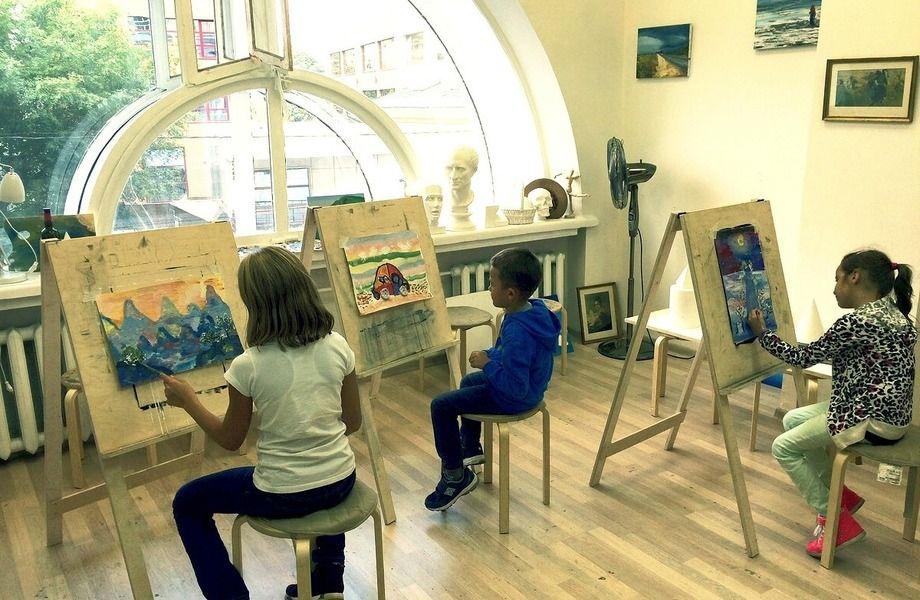 Детская студия живописи с клиентской базой