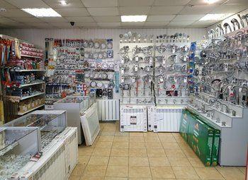 Магазин сантехники в оживленном районе