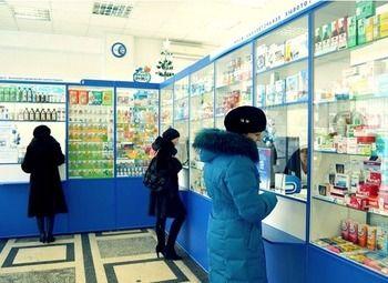 Аптека в месте с высокой проходимостью.