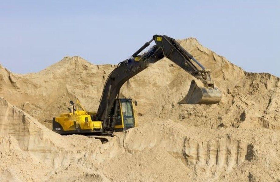 Песчаный карьер с крупными запасами