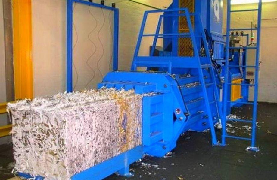 Площадка по заготовке и переработке макулатуры
