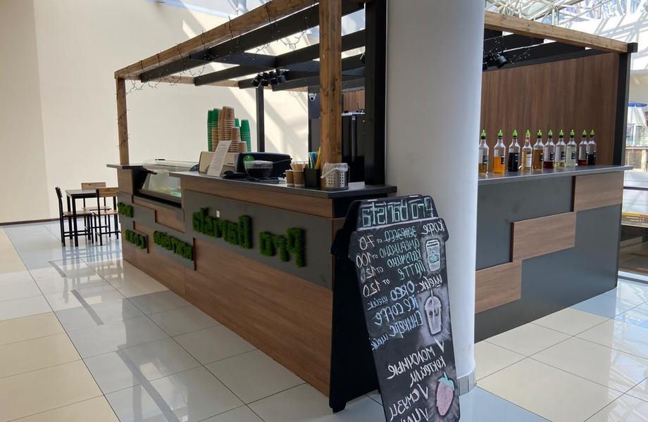 Прибыльная кофейня формата островок с посадочными местами в ТЦ