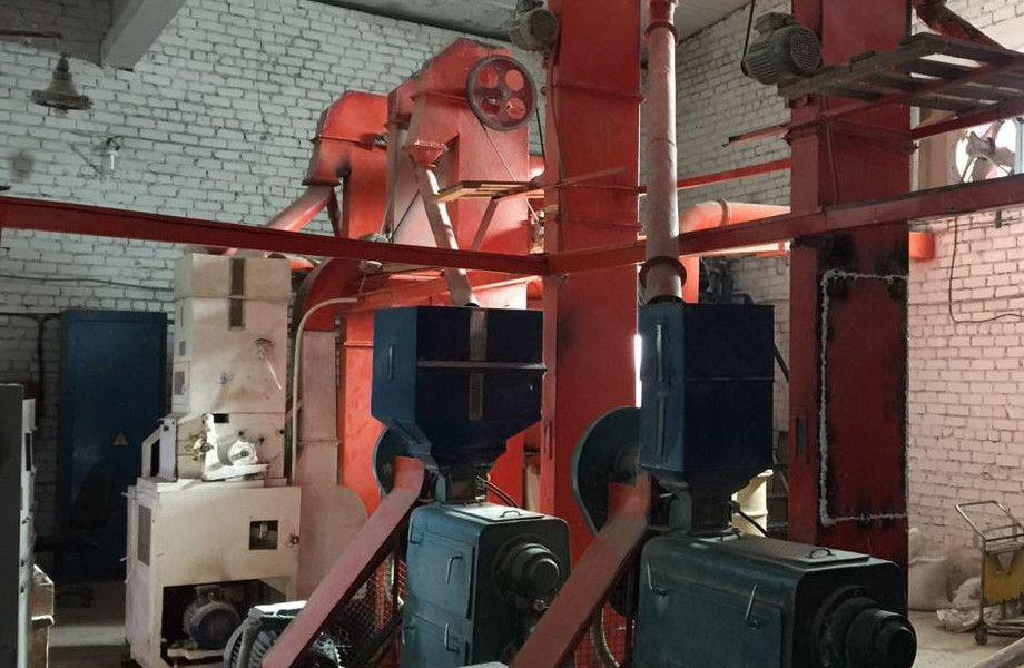Автоматизированная линия обработки риса для оптового пр-ва крупы