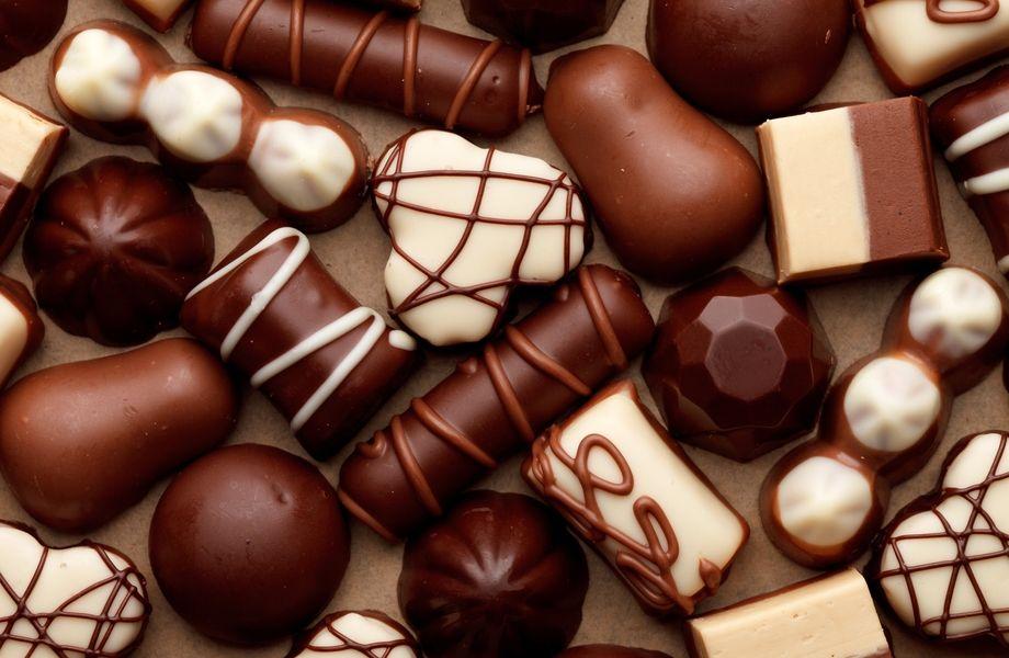 Элитный шоколад в крупном ТЦ
