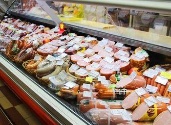 Готовый отдел под продажу колбасных и сырных изделий