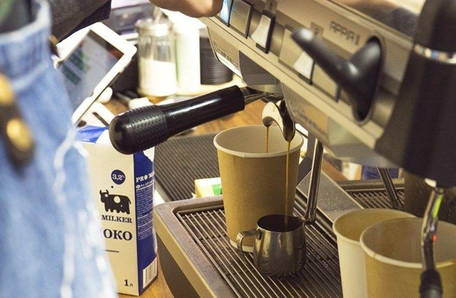 Кофе с собой у ЖД станции и метро