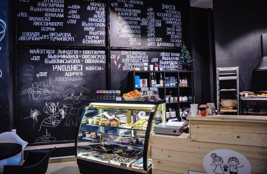 Кофе с собой + посадочные места/прибыль 100 тыс.