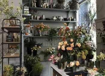 Цветочный магазин на пешеходном трафике