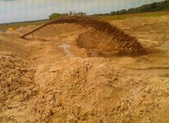 Действующий карьер намывного песка Курская Область